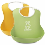 BabyBjörn Soft Bib 2 Pack in Green & Yellow