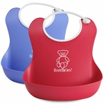 BabyBjörn Soft Bib 2 Pack in Red & Blue