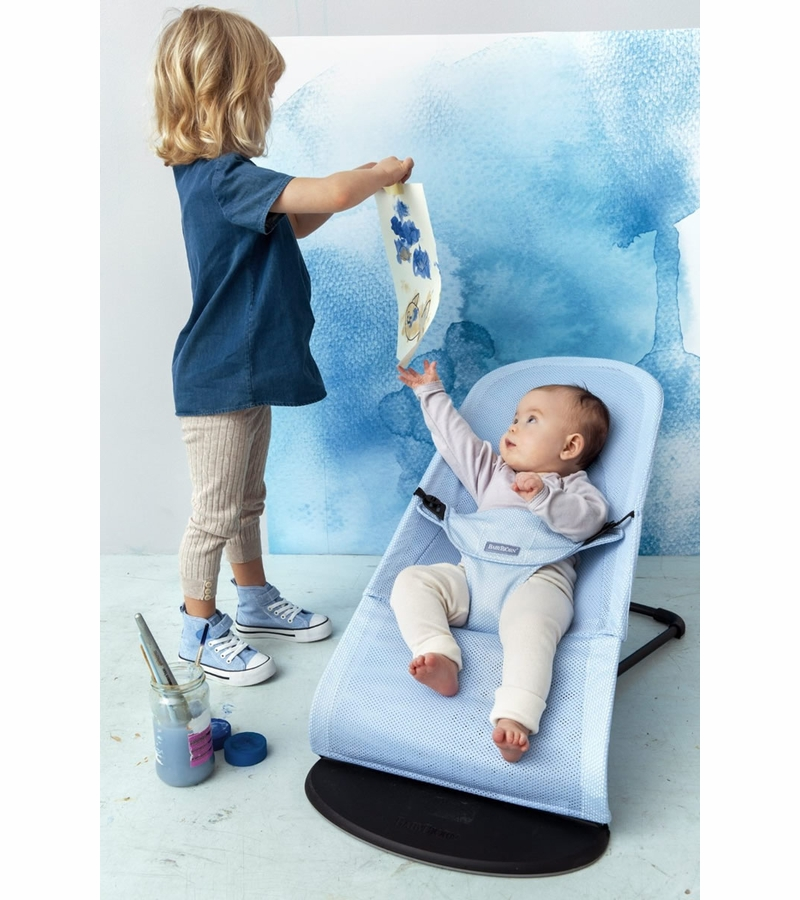 Babybjrn Bouncer Balance Soft Mesh Ice Blue