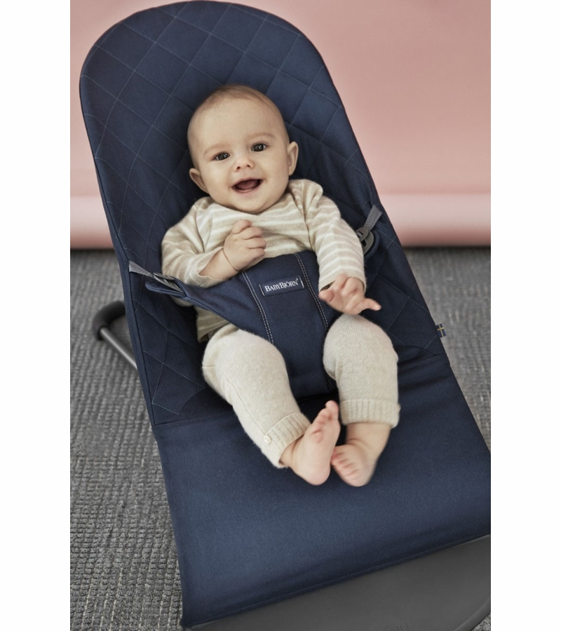 babybjorn bouncer bliss midnight blue cotton. Black Bedroom Furniture Sets. Home Design Ideas
