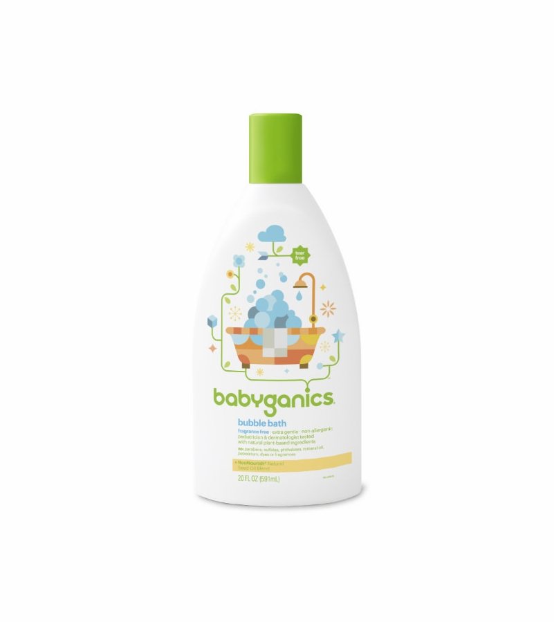 Babyganics Bubble Bath 20oz Fragrance Free