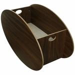 BabyHome So-Ro Single Cradle in Walnut
