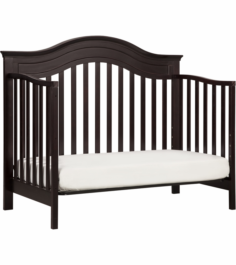 babyletto brook 4in1 convertible crib u0026 toddler bed conversion kit dark java - Crib Conversion Kit