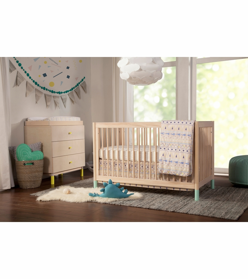 Babyletto gelato 4 in 1 convertible crib white color feet for Child craft soho 4 in 1 convertible crib in natural