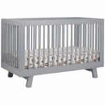Babyletto Hudson 3-in-1 Convertible Crib with Toddler Bed Conversion Kit in Grey Finish