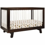 Babyletto Hudson 3-in-1 Convertible Crib with Toddler Bed Conversion Kit in Espresso/White