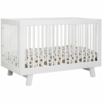 Babyletto Hudson 3-in-1 Convertible Crib with Toddler Bed Conversion Kit in White Finish