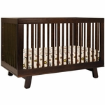 Babyletto Hudson 3-in-1 Convertible Crib with Toddler Bed Conversion Kit in Espresso Finish