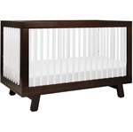 Babyletto Hudson 3-in-1 Convertible Crib with Toddler Bed Conversion Kit - Espresso/White