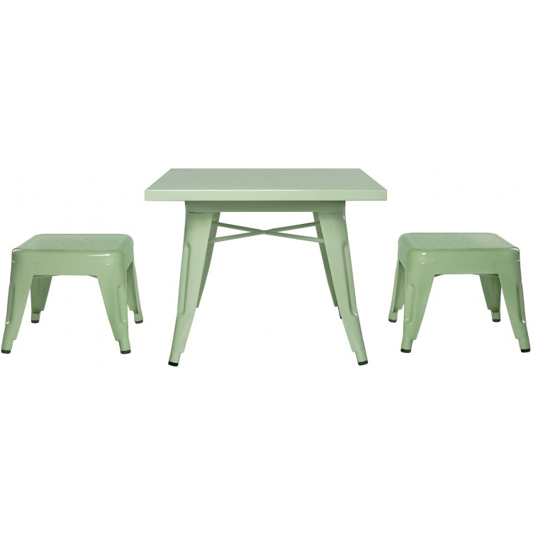 Babyletto Lemonade Table & Stool Chair Set in Mint