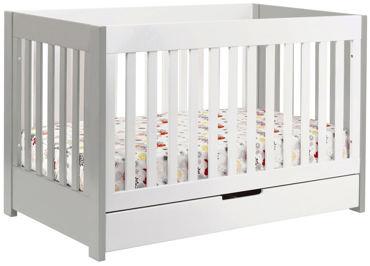 Babyletto Mercer 3-in-1 Convertible Crib with Toddler Bed...