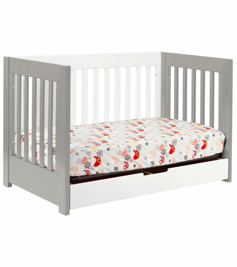 Gray Crib With Mattress