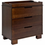 Babyletto Modo 3-Drawer Changer Dresser, KD w/Removable Changing Tray in Espresso