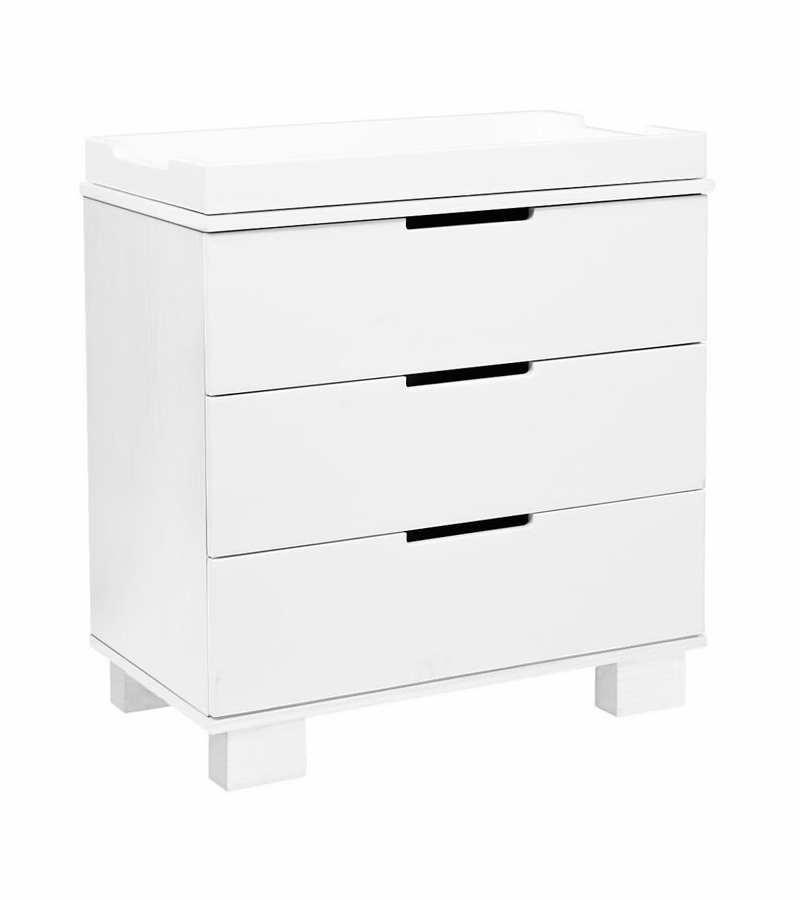 Babyletto Modo 3 Drawer Changer Dresser, KD W/Removable Changing Tray In  White