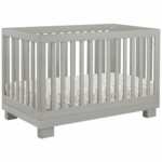 Babyletto Modo 3-in-1 Convertible Crib with Toddler Bed Conversion Kit in Grey Finish