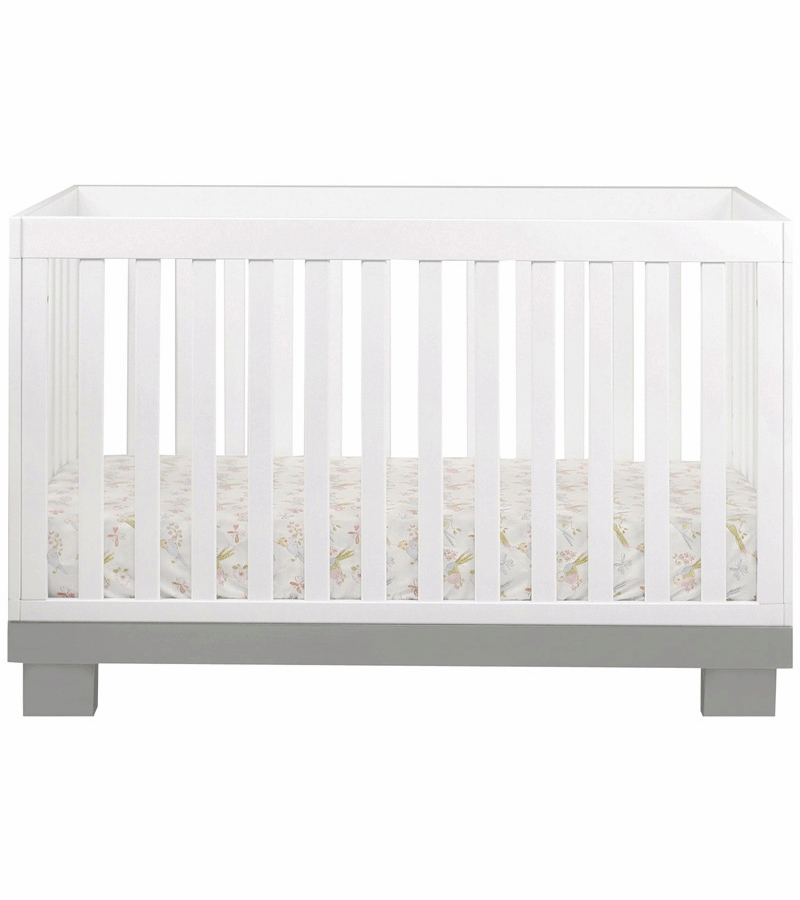 babyletto modo crib assembly dimensions mattress size convertible toddler rail grey white
