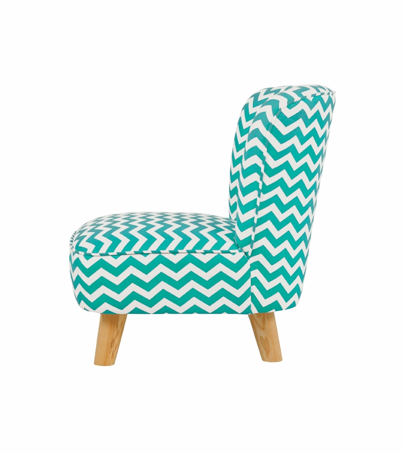 Babyletto pop mini chair chevron blue for Toddler mini chair