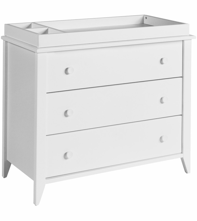 babyletto sprout 3 drawer changer dresser kd in white finish. Black Bedroom Furniture Sets. Home Design Ideas