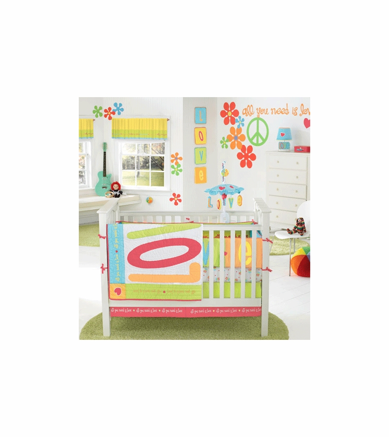 Banana Fish All You Need Is Love Four Piece Crib Bedding Set