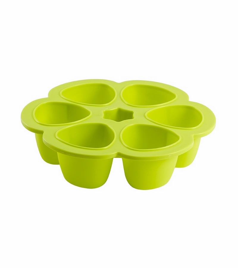 beaba multiportions 3oz silicone tray neon. Black Bedroom Furniture Sets. Home Design Ideas