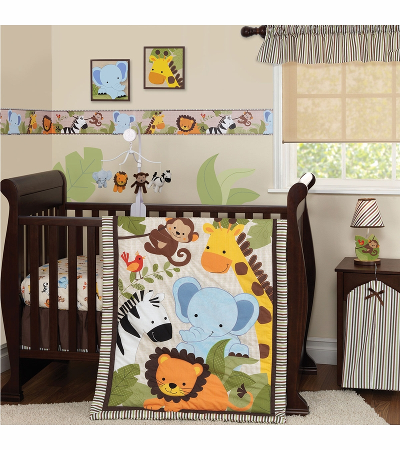 nursery bedroom sets bedtime originals jungle buddies 3 crib bedding set 12721