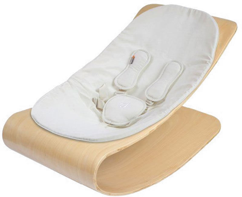 Bloom Coco Stylewood Baby Lounger - Natural/Coconut White