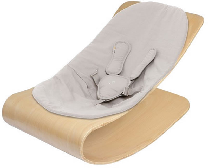 Bloom Coco Stylewood Baby Lounger - Natural/Frost Grey