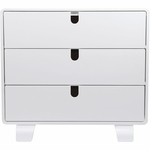 Bloom Retro Dresser - White/Coconut White