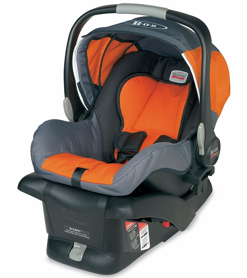 bob b safe infant car seat orange. Black Bedroom Furniture Sets. Home Design Ideas