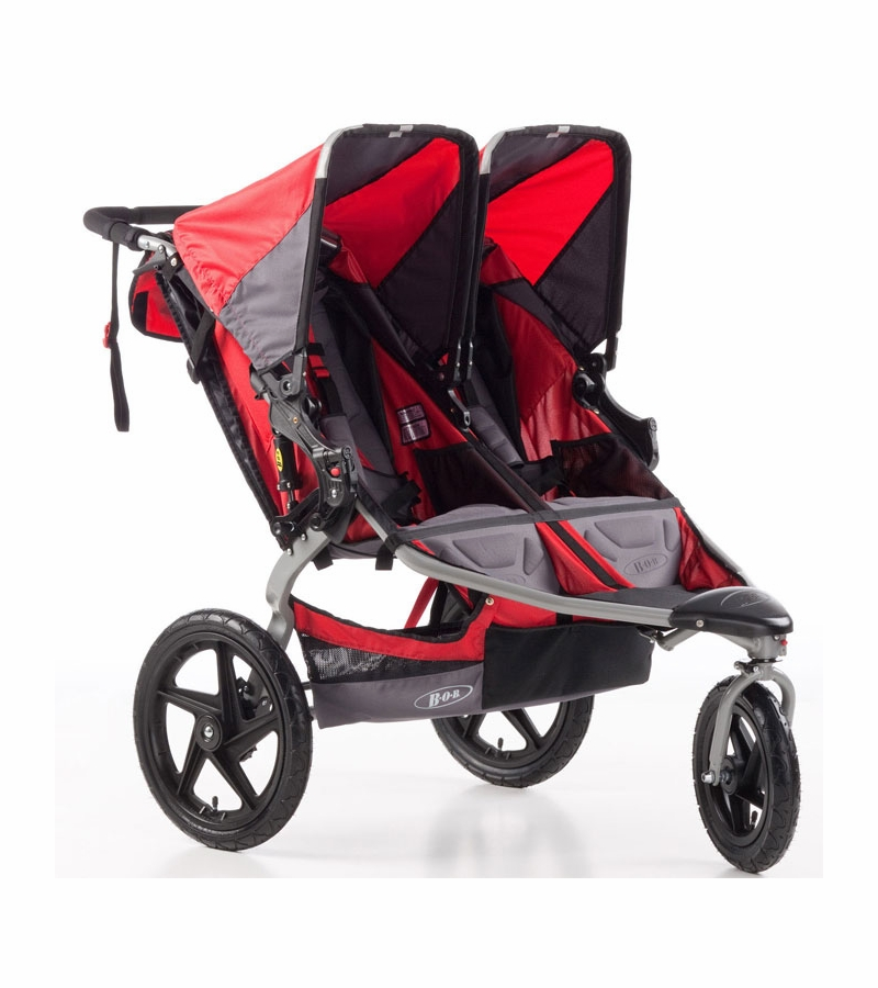 bob strides duallie fitness double stroller red. Black Bedroom Furniture Sets. Home Design Ideas