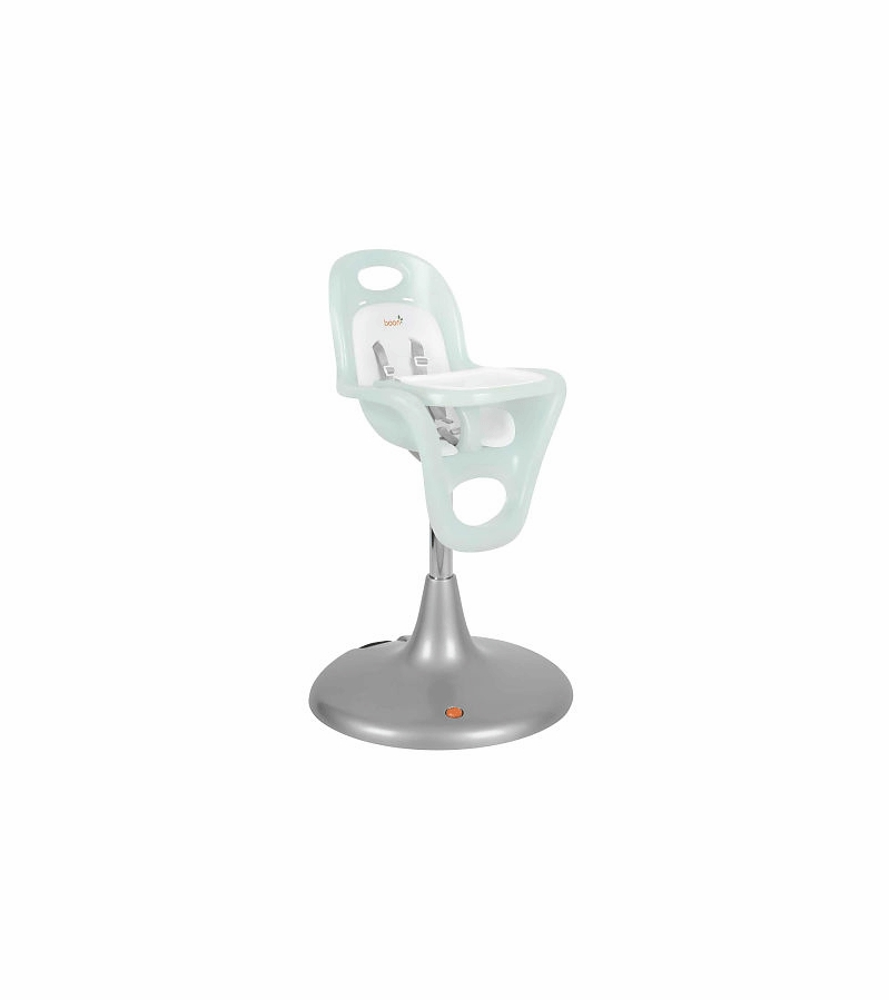 Boon Flair Pedestal Highchair with Pneumatic Lift Blue Seat with White Pad
