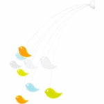 Boon Peep Wall Mounted Bird Mobile in Multicolor
