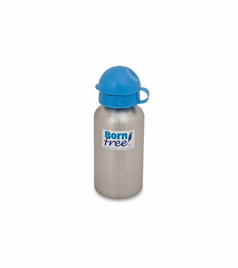 Born free bpa free stainless steel 9 oz water bottle for Floor 9 water bottle