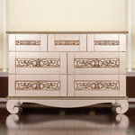 Bratt Décor Chelsea Collection Dresser - Antique Silver