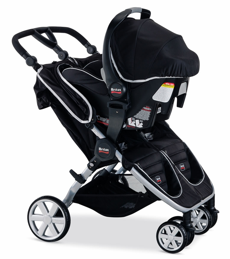 britax b agile double stroller black. Black Bedroom Furniture Sets. Home Design Ideas