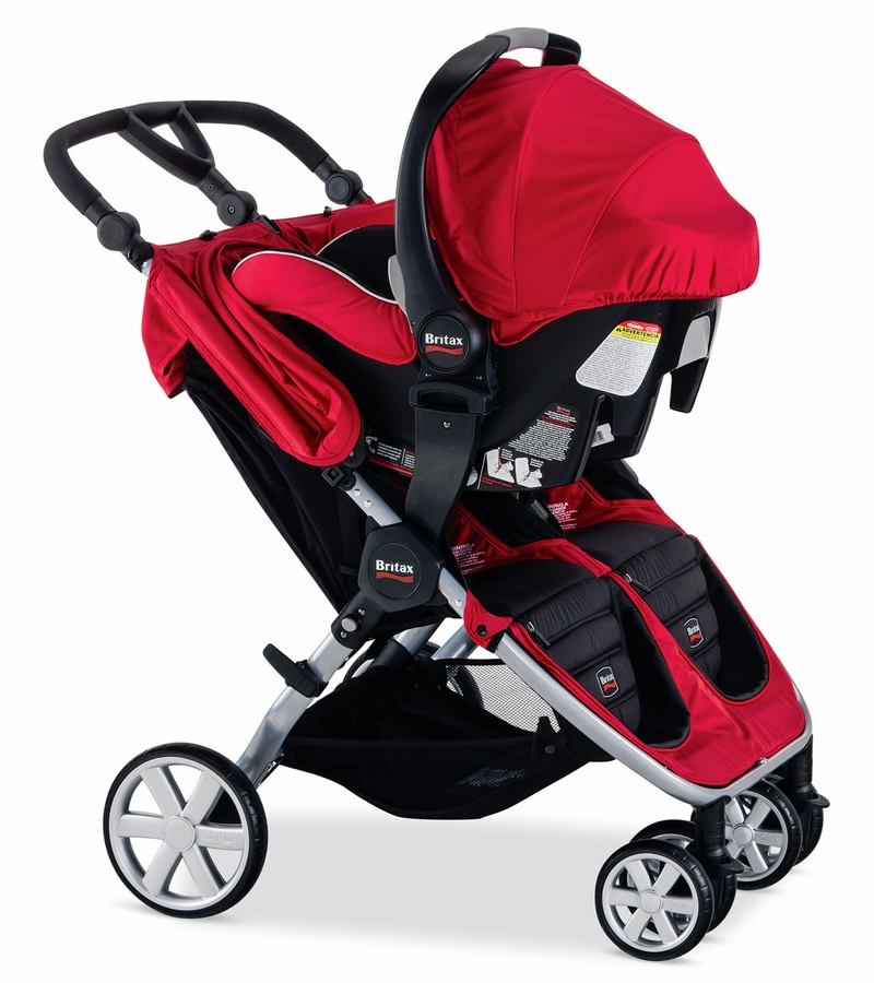 britax b agile double stroller red. Black Bedroom Furniture Sets. Home Design Ideas