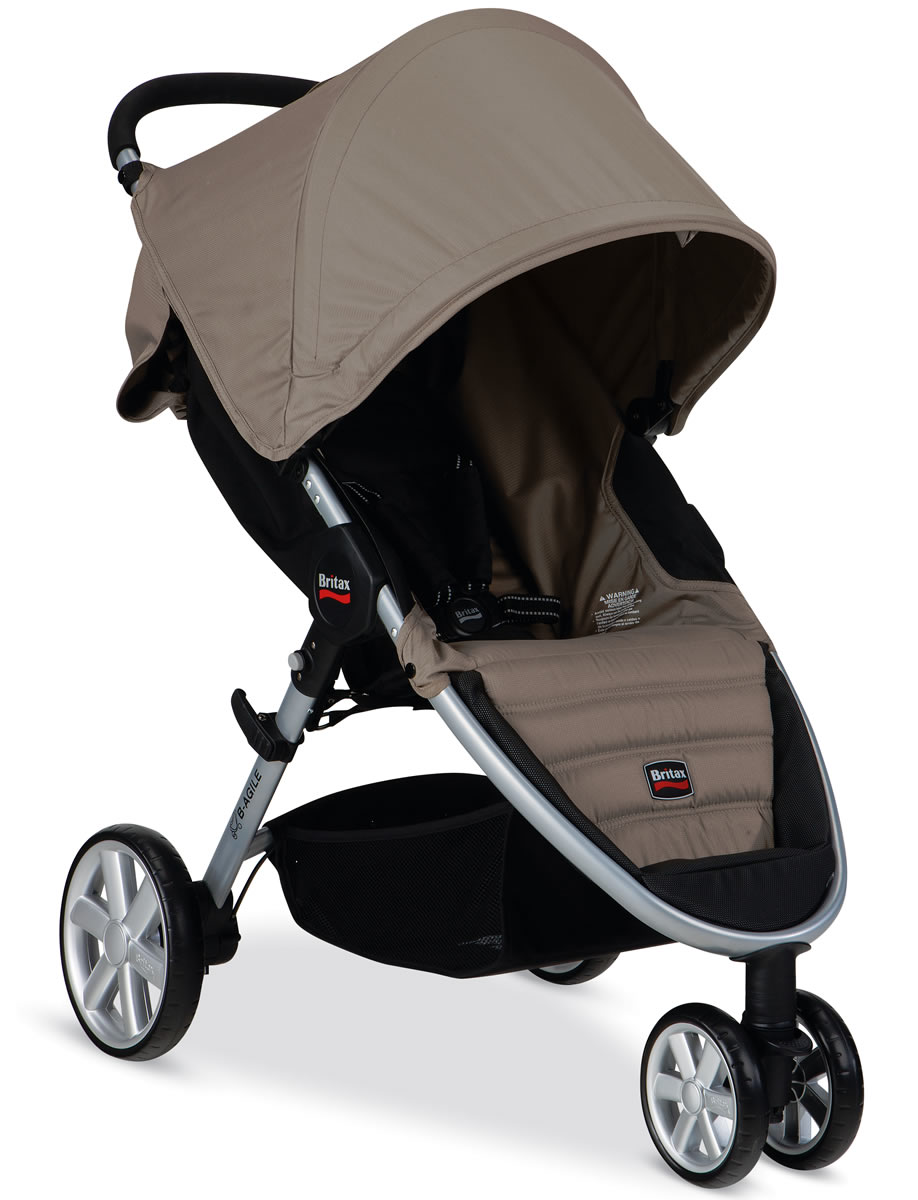 britax b agile 2014 stroller sandstone. Black Bedroom Furniture Sets. Home Design Ideas