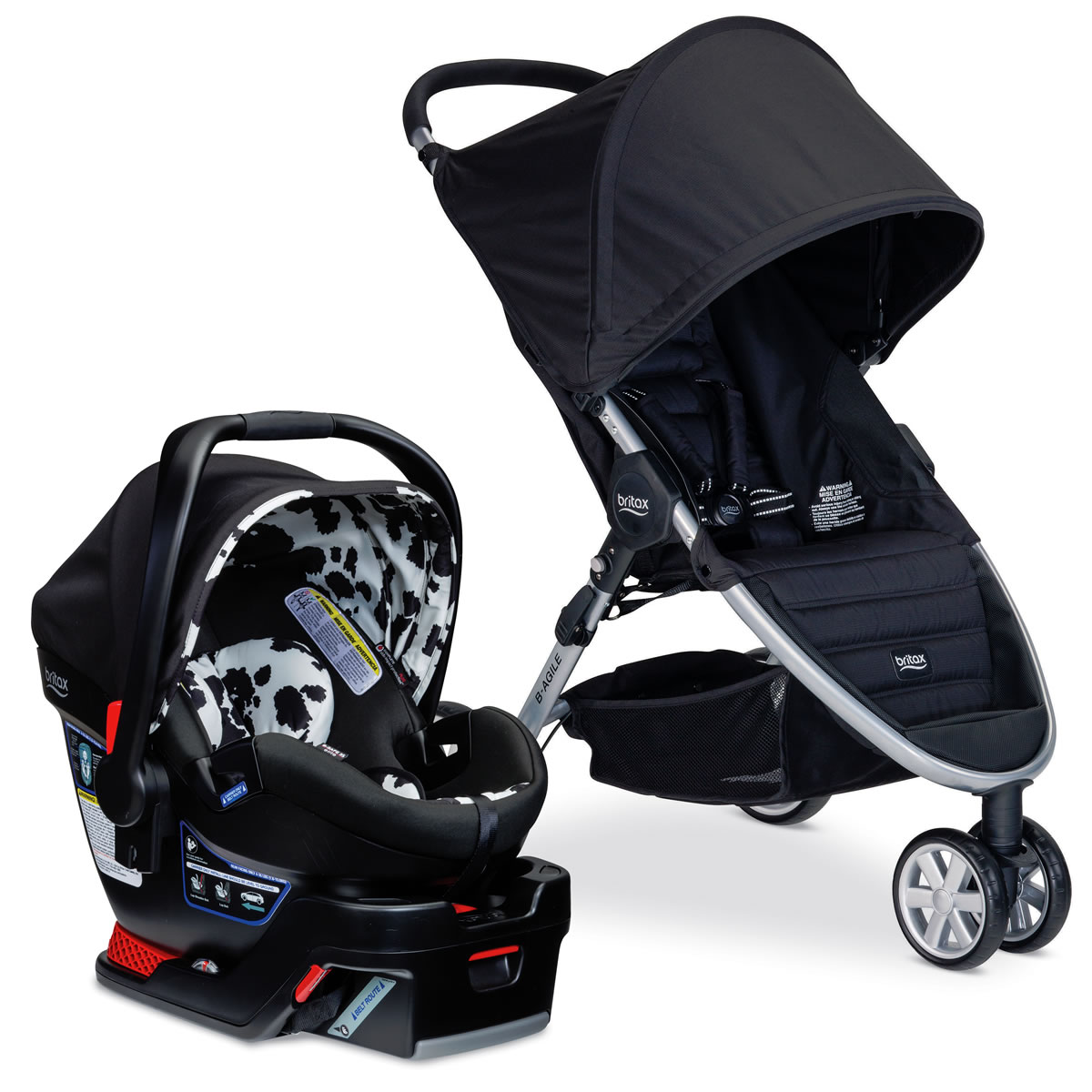 britax b agile 3 b safe 35 elite travel system cowmooflage. Black Bedroom Furniture Sets. Home Design Ideas