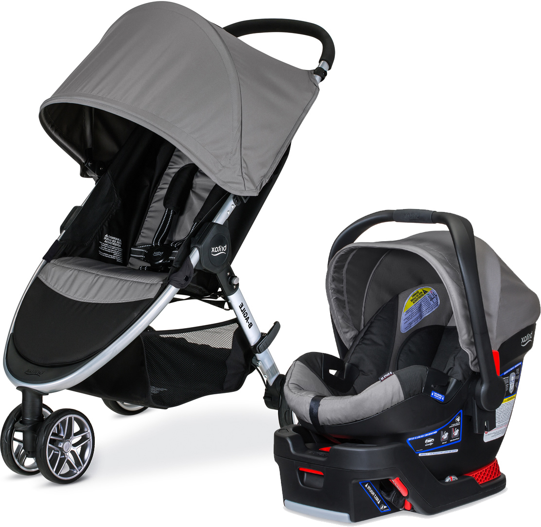 Britax B Agile  B Safe  Travel System Steel