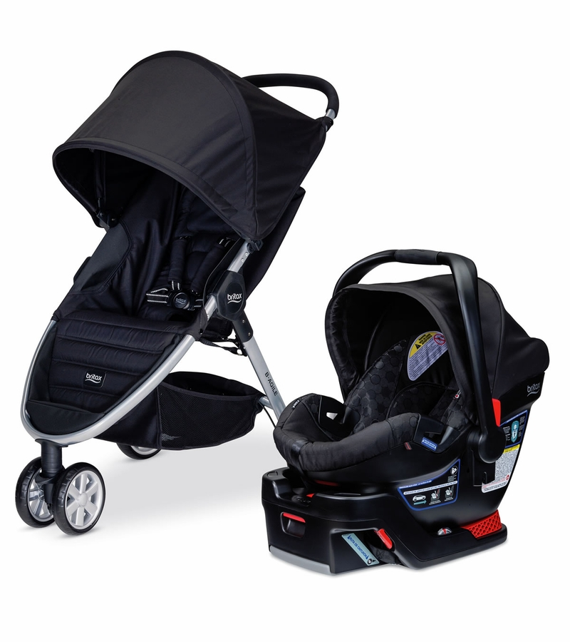 britax b agile 3 b safe 35 travel system black. Black Bedroom Furniture Sets. Home Design Ideas