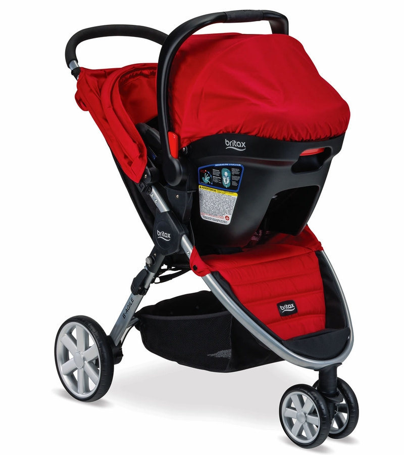 britax b agile 3 b safe 35 travel system red. Black Bedroom Furniture Sets. Home Design Ideas