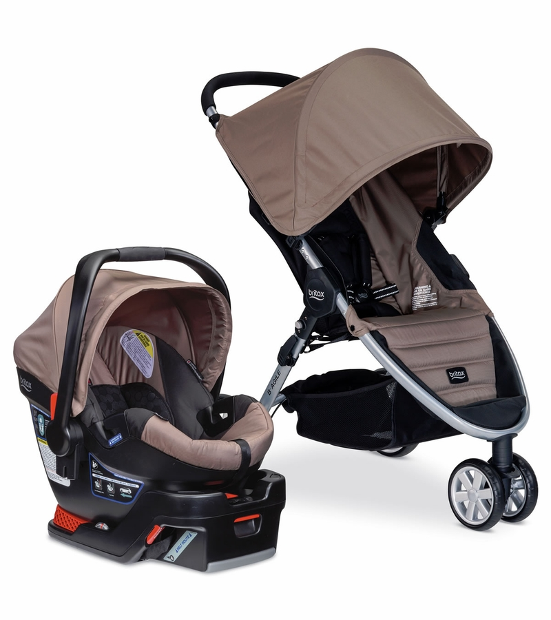 britax b agile 3 b safe 35 travel system sandstone. Black Bedroom Furniture Sets. Home Design Ideas