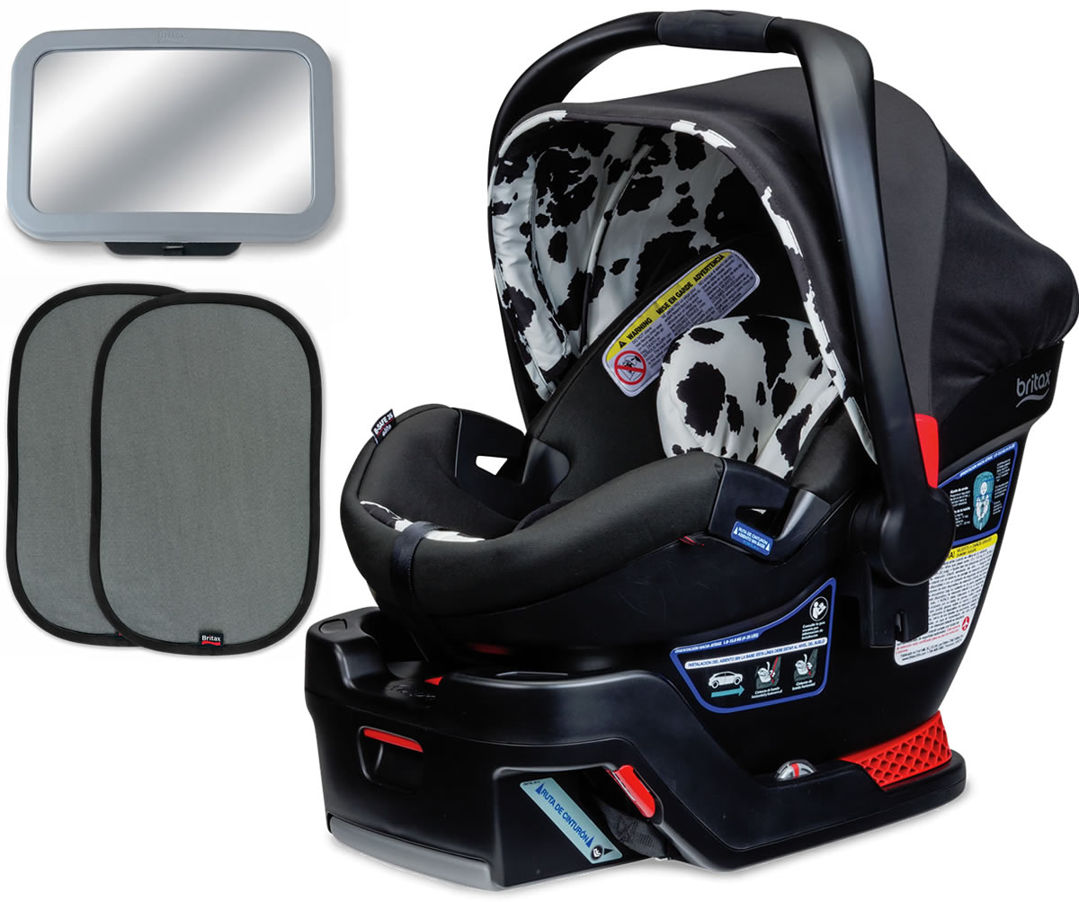 britax b safe 35 elite infant car seat bundle cowmooflage. Black Bedroom Furniture Sets. Home Design Ideas