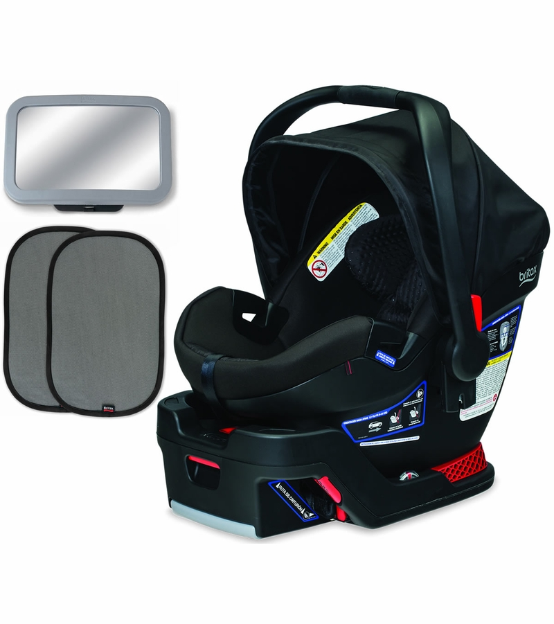 britax b safe 35 elite infant car seat bundle midnight. Black Bedroom Furniture Sets. Home Design Ideas