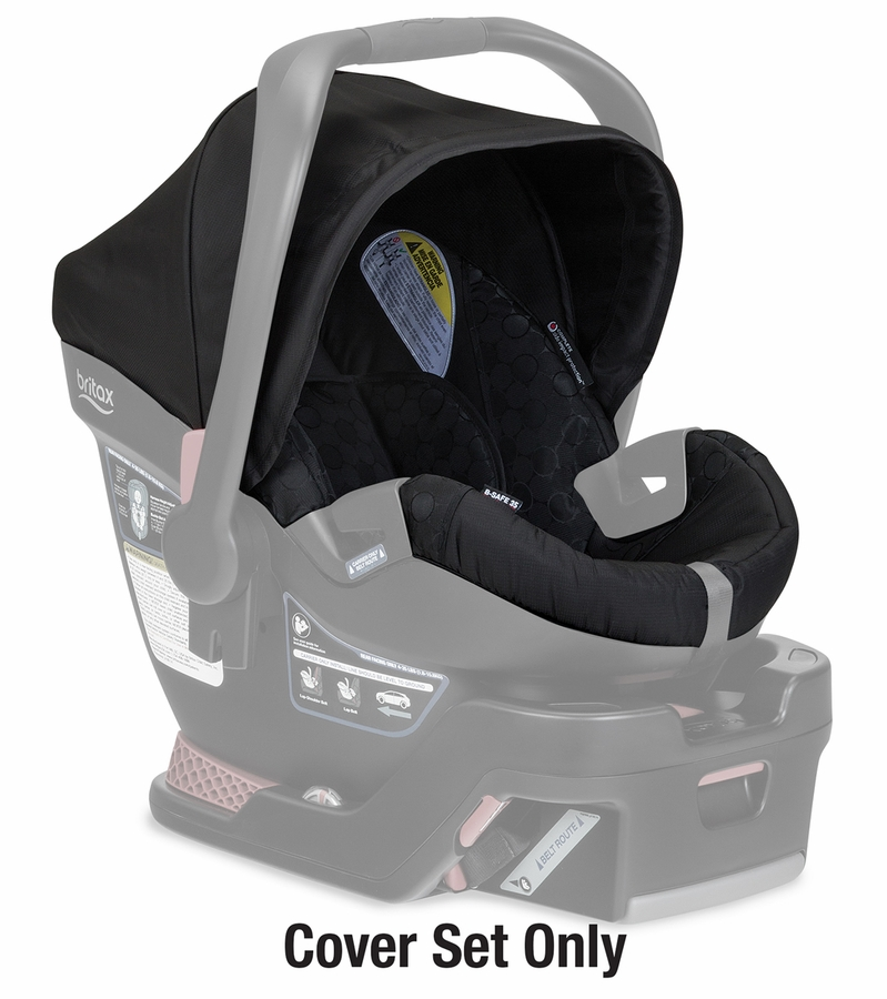 britax b safe 35 infant car seat cover set black. Black Bedroom Furniture Sets. Home Design Ideas