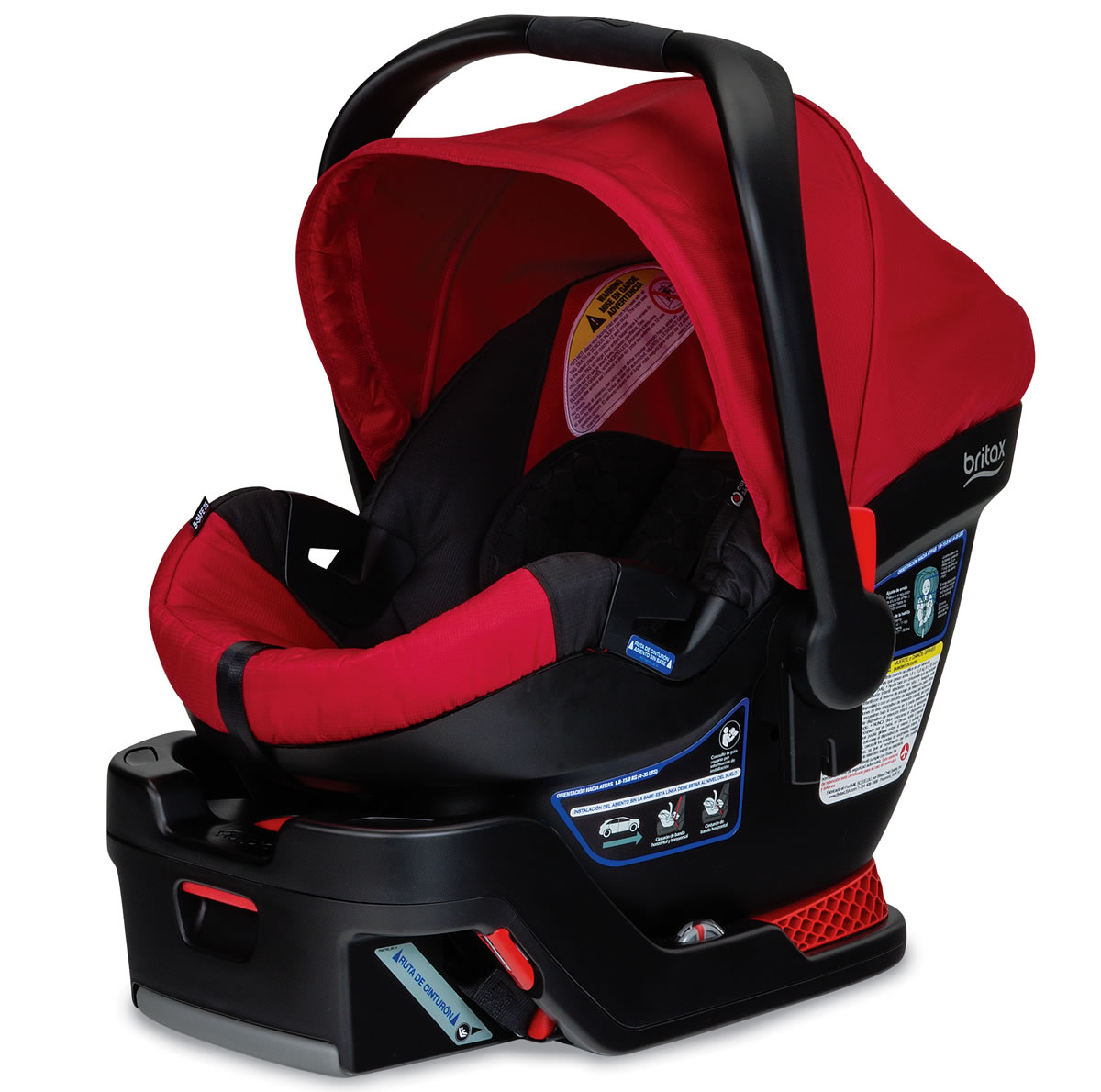 britax b safe 35 infant car seat red. Black Bedroom Furniture Sets. Home Design Ideas