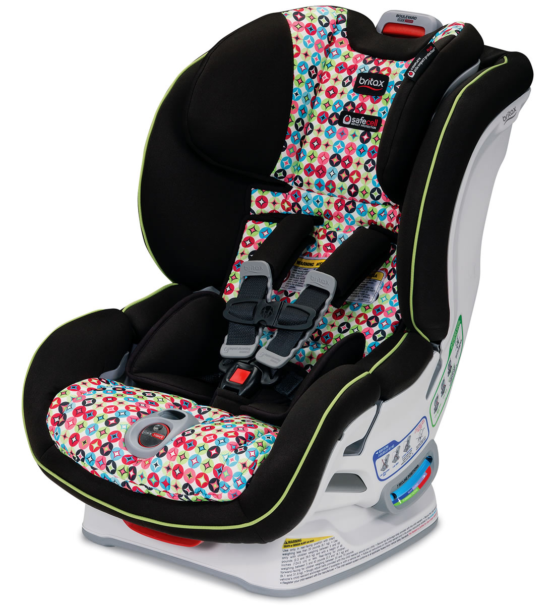 britax boulevard clicktight convertible car seat kaleidoscope. Black Bedroom Furniture Sets. Home Design Ideas