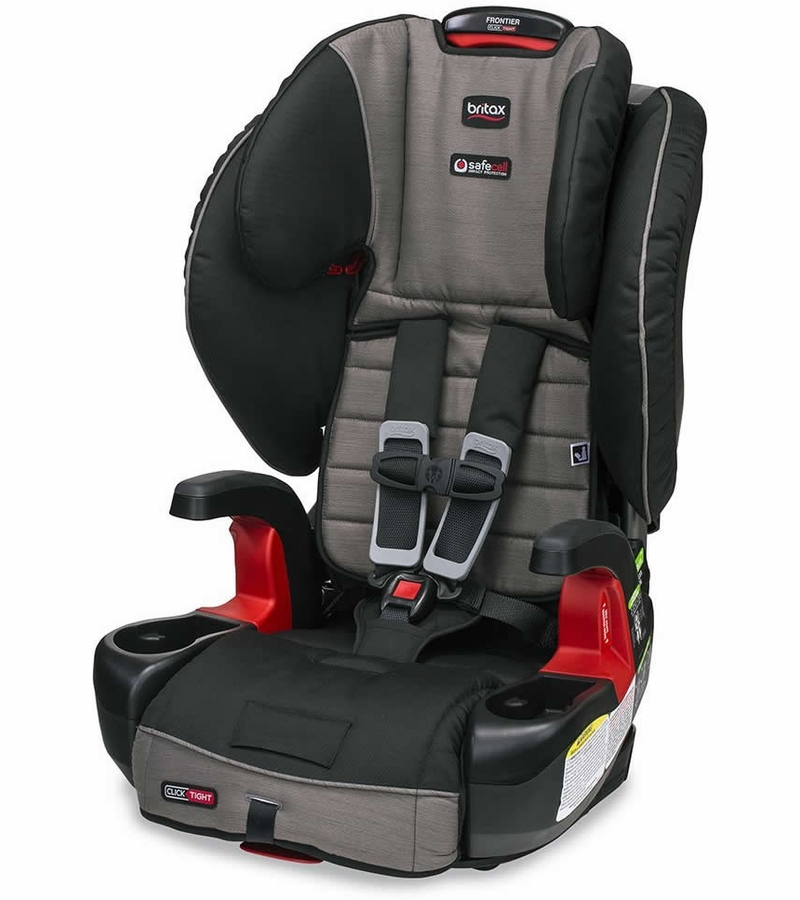 britax frontier clicktight booster car seat slate strie. Black Bedroom Furniture Sets. Home Design Ideas