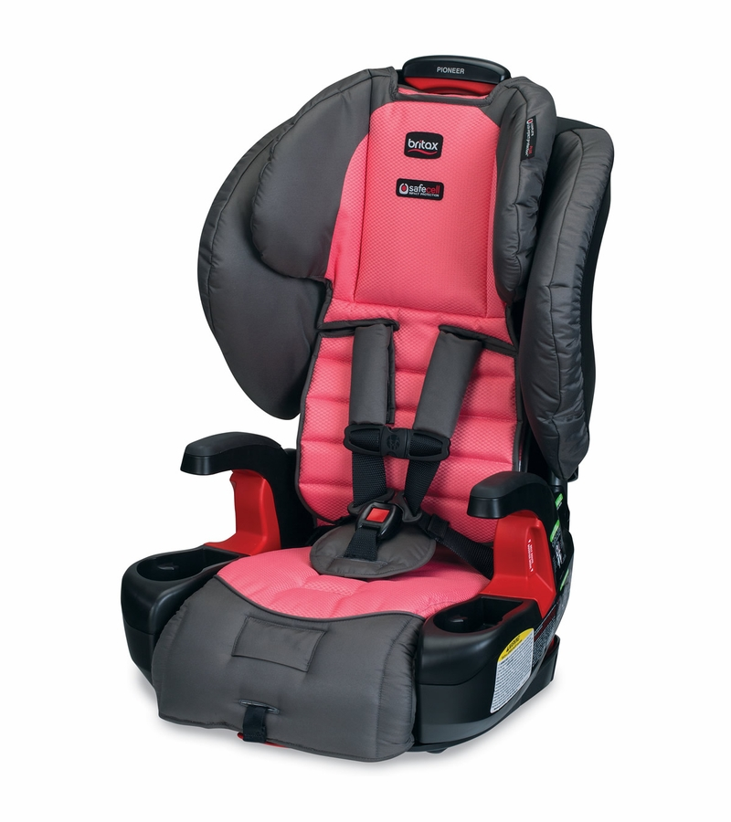 britax pioneer g1 1 harness booster car seat coral. Black Bedroom Furniture Sets. Home Design Ideas