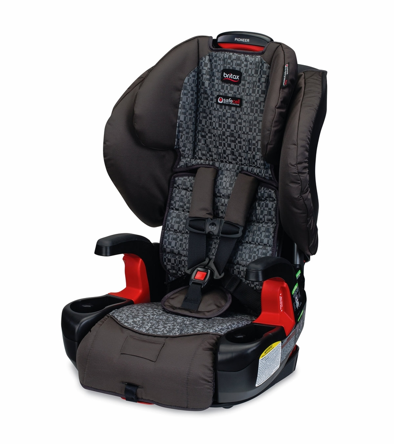 britax pioneer g1 1 harness booster car seat silver cloud. Black Bedroom Furniture Sets. Home Design Ideas